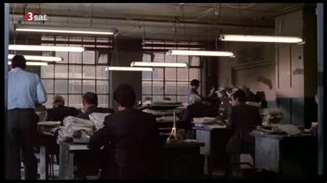 """Das Büro in der ersten Szene von Kaurismäkis """"I hired a Contract Killer"""""""