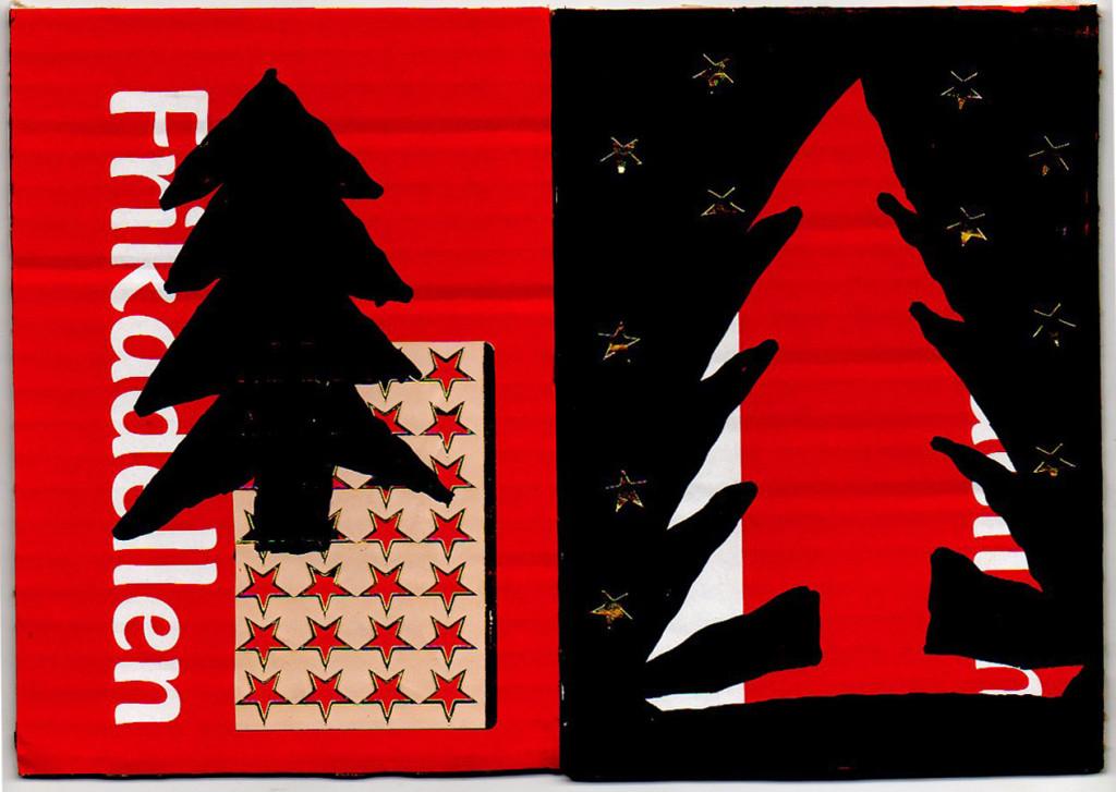 Weihnachtsbaum Frohe Weihnachten Weihnacht Postkarte