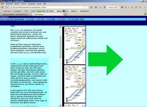 Ein Screenshot der die verspielte Gestaltung des NetLog illustriert.