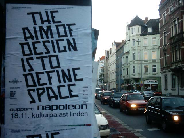 the aim of design is to define space -- support: napoleon -- 18.11. kulturpalast linden